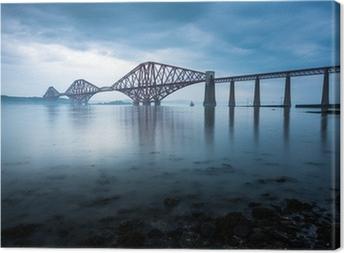 Canvas Forth bruggen in Edinburgh, Schotland