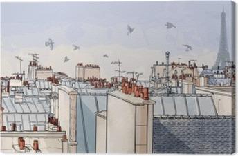 Canvas Frankrijk - Parijs daken