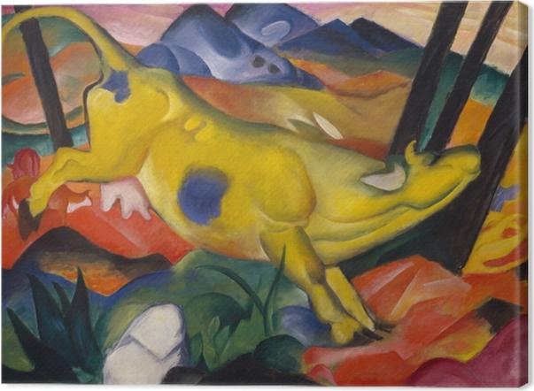 Canvas Franz Marc - Žlutá kráva - Reproductions