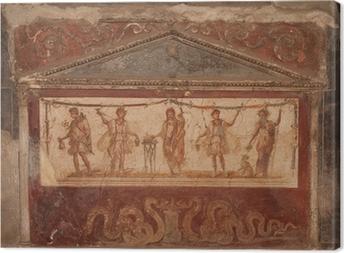 Canvas Fresco in Pompeii