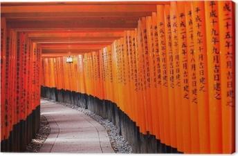 Canvas Fushimi Inari Shrine in Kyoto-klaar is, Japan