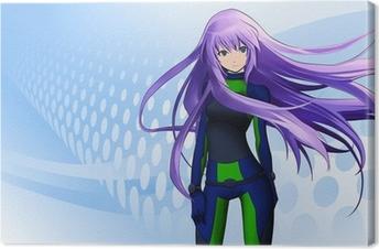 Canvas Futuristisch anime meisje