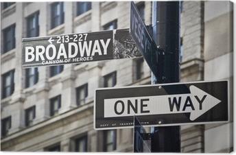 Canvas Ganneau Broadway à New-York