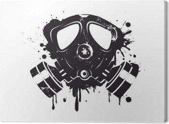 Canvas Gasmaske Graffiti