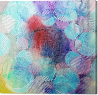 Canvas Gekleurde cirkels kunst illustratie