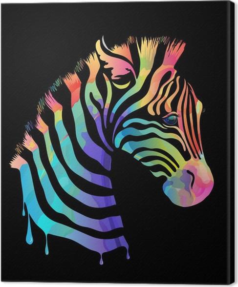 Canvas gekleurde zebra op zwart pixers we leven om te veranderen canvas gekleurde zebra op zwart stijlen thecheapjerseys Gallery
