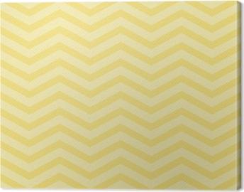 Canvas Gele Chevron Zigzag geweven stof Achtergrond van het Patroon