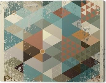 Canvas Geometrische achtergrond.