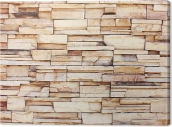 Canvas Gestapelde stenen muur