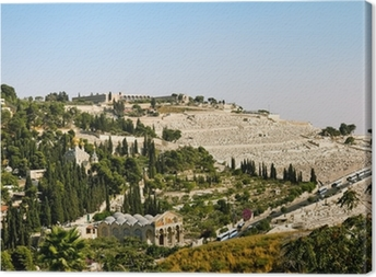 Canvas Gethsemane, en de kerk van alle naties in Jeruzalem