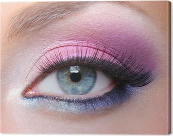 Canvas Glamour make-up van een vrouw oog