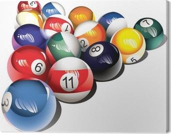 Canvas Glanzende biljartballen set, vector illustratie