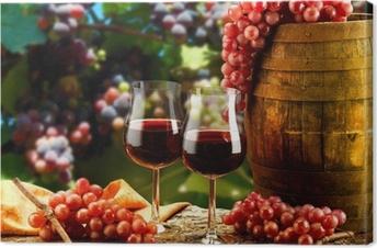 Canvas Glazen wijn