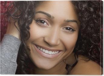 Canvas Glimlachend Black Girl