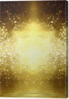 Canvas Gouden glitter