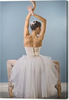 Canvas Gracieuze ballerina achteraanzicht