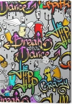 Canvas Graffiti tekens naadloze patroon