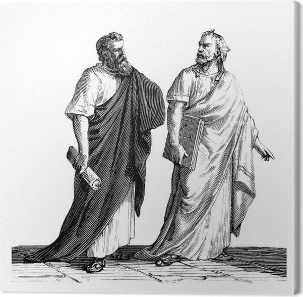 Citaten Griekse Filosofen : Canvas griekse filosofen oudheid pixers we leven om