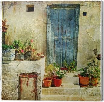 Canvas Griekse straten, artistieke foto