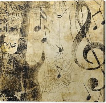 Canvas Grunge muziek - of rock-n-roll zal nooit sterven