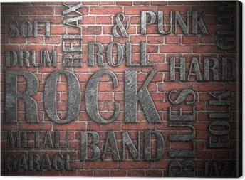 Canvas Grunge rock muziek poster