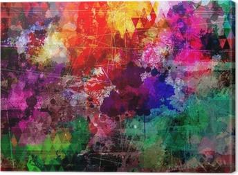 Canvas Grunge stijl abstracte aquarel achtergrond