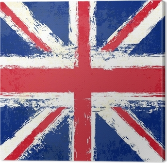 Canvas Grunge Union Jack