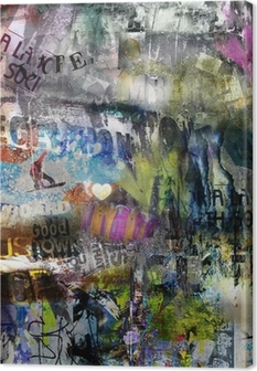 Canvas Grungy stijl gescheurde poster achtergrond