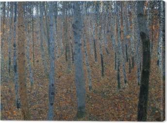 Canvas Gustav Klimt - Berkenbos