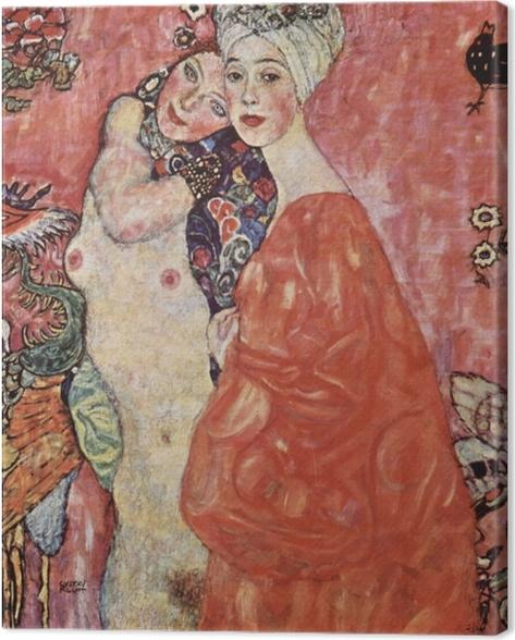 Canvas Gustav Klimt - De vrienden - Reproducties