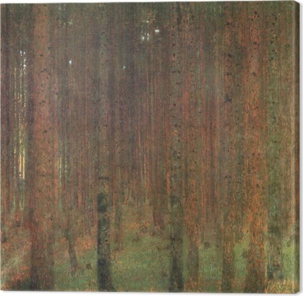 Canvas Gustav Klimt - Dennenwoud - Reproducties