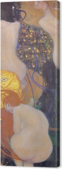 Canvas Gustav Klimt - Goudvis - Reproducties