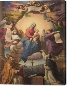 Canvas Heilige Maria en de kleine Jezus uit Wenen kerk