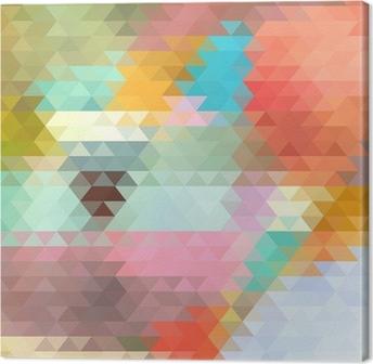 Canvas Heldere achtergrond van de driehoeken