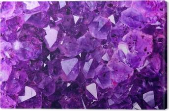 Canvas Heldere violette textuur van natuurlijke amethist