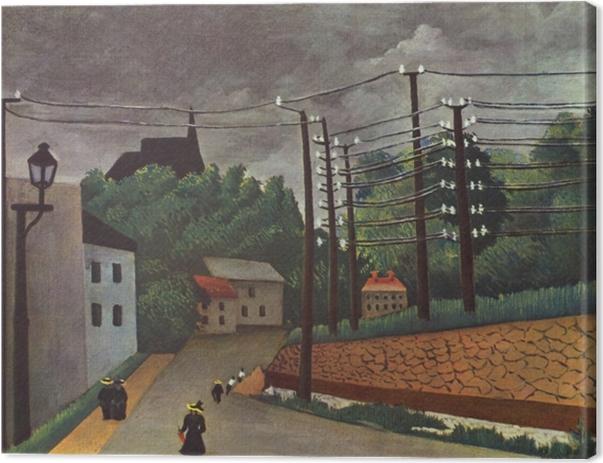Canvas Henri Rousseau - Het uitzicht op Malakoff - Reproducties