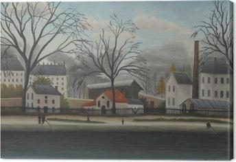 Canvas Henri Rousseau - Scène uit de voorsteden
