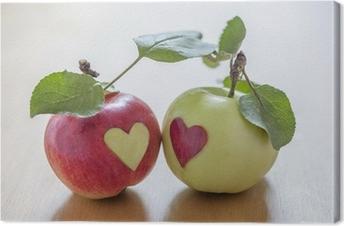 Canvas Herfst liefde.