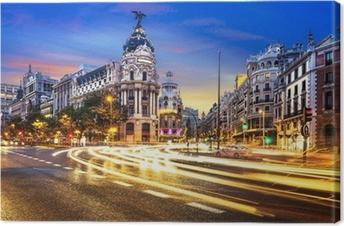 Canvas Het centrum van Madrid, Gran Vis Spanje