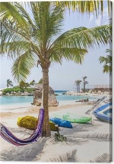 Canvas Het mooiste strand van Curaçao Caroibbean