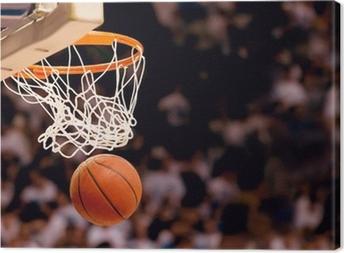 Canvas Het scoren van de winnende punten bij een basketbalwedstrijd