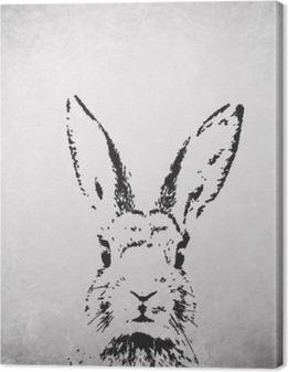 Canvas Het silhouet van konijn backround