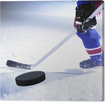 Canvas Hockey Player