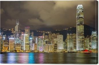Canvas Hong Kong skyline