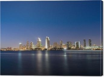 Canvas Horizon van San Diego bij Nacht