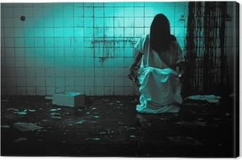Canvas Horror of Scary Scene