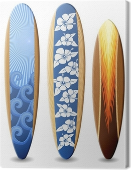 Canvas Houten surfplanken