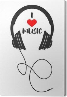 Canvas Ik houd van muziek