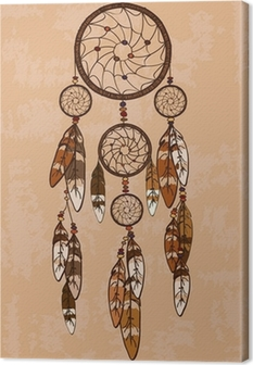 Canvas Illustratie met tribal dreamcatcher