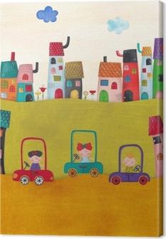 Canvas Illustratie voor kinderen